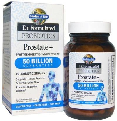 Garden of Life, Dr. Formulated Probiotics, Prostate +, 60 Veggie Caps (Ice) ,الصحة، الرجال، البروستاتا، المكملات الغذائية، البروبيوتيك