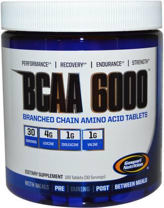 Gaspari Nutrition, BCAA 6000, 180 Tablets ,المكملات الغذائية، والأحماض الأمينية، بكا (متفرعة سلسلة الأحماض الأمينية)، والرياضة، والرياضة