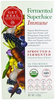 Get Real Nutrition, Fermented SuperJuice Immune, 120 g ,والصحة، والانفلونزا الباردة والفيروسية، ونظام المناعة