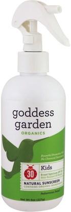 Goddess Garden, Organics, Kids Natural Sunscreen, SPF 30, 8 oz (236 ml) ,حمام، الجمال، واقية من الشمس، سف 30-45، والأطفال والطفل واقية من الشمس