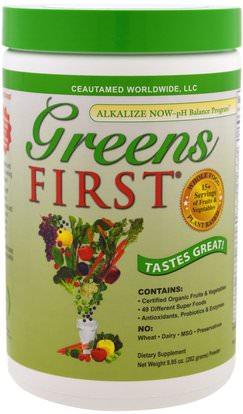 Greens First, Superfood Antioxidant Shake, Original, 9.95 oz (282 g) ,المكملات الغذائية، سوبرفوودس، الخضر