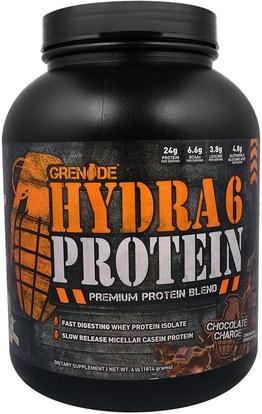 Grenade, Hydra 6 Protein, Premium Protein Blend, Chocolate Charge, 4 lb (1814 g) ,والمكملات الغذائية، والبروتين