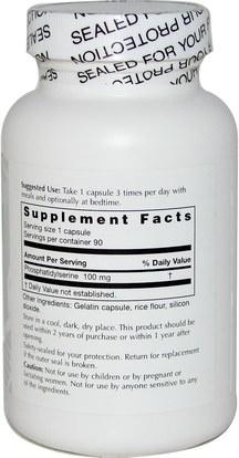 الصحة، اضطراب نقص الانتباه، إضافة، أدهد، الدماغ، الذاكرة Life Enhancement, Phosphatidyl Serine, 90 Capsules