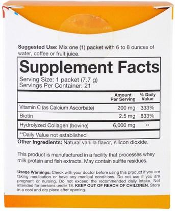 الصحة، العظام، هشاشة العظام، مكافحة الشيخوخة، الكولاجين Youtheory, Collagen Powder, Vanilla, 21 Packets, 0.27 oz (7.7 g) Each