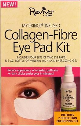 الصحة، العظام، هشاشة العظام، الكولاجين، الجمال، كريمات العين Reviva Labs, Collagen-Fibre Eye Pad Kit, 5 Piece Kit