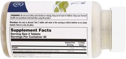 الصحة، العظام، هشاشة العظام، الكولاجين KAL, Clinical Youth Collagen, Chicken Collagen, Type II, 1000 mg, 60 Tablets