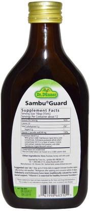 والصحة، والانفلونزا الباردة والفيروسية، إلديربيري (سامبوكوس)، والنباتات Flora, Dr. Dunner, Sambu Guard, 5.9 fl oz (175 ml)