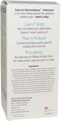 الصحة، التهاب الجلد، النساء، الجلد Salcura, DermaSpray, Natural Skin Nourishment, Intensive, 3.4 fl oz (100 ml)