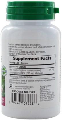 الصحة، السموم، الحليب الشوك (سيليمارين) Natures Plus, Herbal Actives, Milk Thistle, 250 mg, 60 Veggie Caps