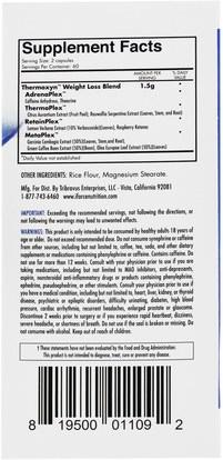 والصحة، والطاقة iForce Nutrition, Thermoxyn, Thermogenic Weight Loss Supplement, 120 Capsules