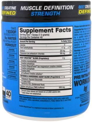 والصحة، والطاقة، والرياضة BPI Sports, Best Creatine, Defined, Lean Muscle Hardening Agent, Sour Candy, 10.58 oz (300 g)