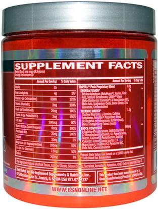 والصحة، والطاقة، والرياضة، تجريب BSN, Hyper FX, Extreme Energy & Focus Amplifier, Grape, 9.84 oz (279 g)