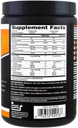 والصحة، والطاقة، والمكملات، والأحماض الأمينية، وتركيبات الأحماض الأمينية Body Fortress, Super Advanced NOS Blast, Fruit Punch, 1 lbs (454 g)