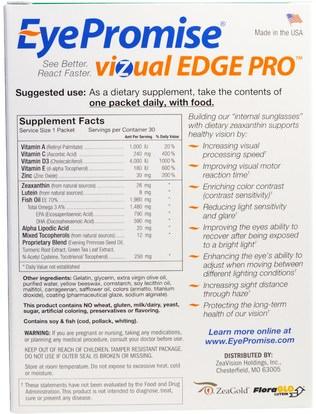 والرعاية الصحية، والعناية بالعيون، والرعاية الرؤية، والرؤية EyePromise, Vizual Edge Pro, 30 Daily Packs