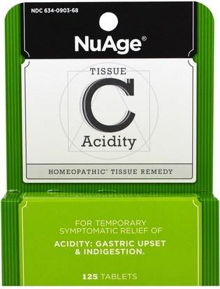 الصحة Hylands, NuAge, Tissue C Acidity, 125 Tablets