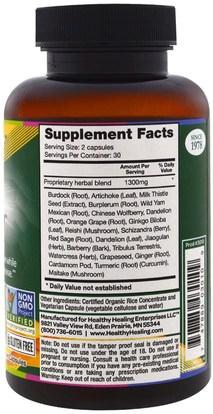 والصحة، ودعم الكبد Crystal Star, Liver Renew, 60 Veggie Caps