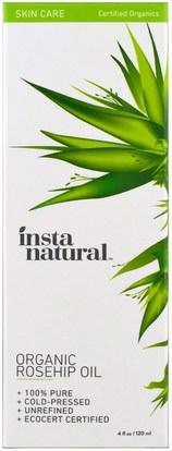 والصحة، والجلد، والزيوت العطرية الزيوت، وارتفع زيت بذور الورك InstaNatural, Organic Rosehip Oil, Skin Care, 4 fl oz (120 ml)