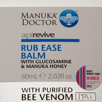 الصحة، الجلد، الجسم زبدة، الجمال، العناية بالوجه، مانوكا العسل للعناية بالبشرة Manuka Doctor, Apirevive, Rub Ease Balm, 2.02 fl oz (60 ml)