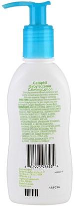 الصحة، الجلد، غسول الجسم Cetaphil, Baby, Eczema Calming Lotion, 5 fl oz (147 ml)