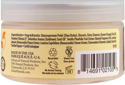 الصحة، الجلد Eclair Naturals, Body Butter, Vanilla & Sweet Orange, 4 oz (113 g)