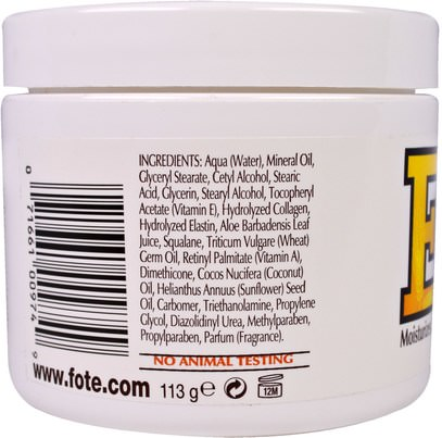 الصحة، الجلد، فيتامين ه كريم النفط Fruit of the Earth, Vitamin E, Skin Care Cream, 4 oz (113 g)