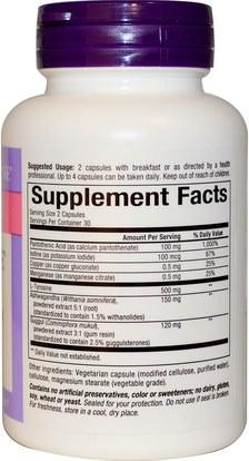 والصحة، والغدة الدرقية، ودعم الغدة الدرقية صحية Natural Factors, WomenSense, ThyroSense, Thyroid Formula, 60 Vegetarian Capsules