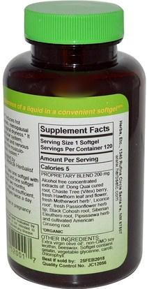 والصحة، والنساء، وانقطاع الطمث Herbs Etc., Menopautonic, Alcohol Free, 120 Fast-Acting Softgels (Discontinued Item)