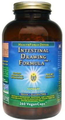 HealthForce Nutritionals, Intestinal Drawing Formula Capsules, 260 Veggie Caps ,الصحة، السموم