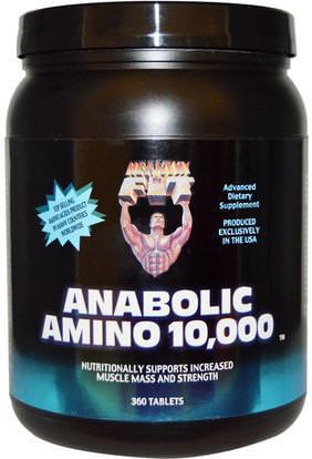 Healthy N Fit, Anabolic Amino 10,000, 360 Tablets ,والمكملات، والأحماض الأمينية، وتركيبات الأحماض الأمينية، والمكملات المنشطة