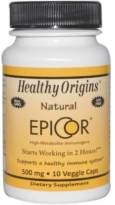 Healthy Origins, EpiCor, 500 mg, 10 Veggie Caps ,Herb-sa