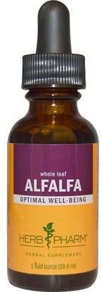 Herb Pharm, Alfalfa, Whole Leaf, 1 fl oz (29.6 ml) ,الأعشاب، البرسيم