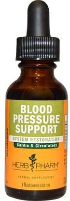Herb Pharm, Blood Pressure Support, 1 fl oz (30 ml) ,والصحة، وضغط الدم