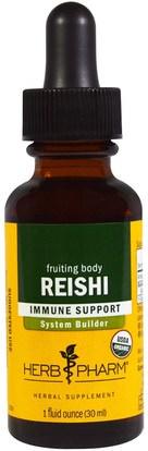 Herb Pharm, Reishi, 1 fl oz (30 ml) ,المكملات الغذائية، الفطر الطبية، الفطر ريشي، أدابتوغين