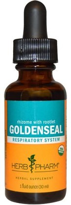 Herb Pharm, Rhizome With Rootlet Goldenseal, 1 fl oz (30 ml) ,الأعشاب، غولدنزال