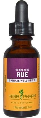 Herb Pharm, Rue, Fruiting Tops, 1 fl oz (29.6 ml) ,الأعشاب، رو