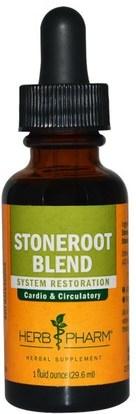 Herb Pharm, Stoneroot Blend Liquid Extract, 1 fl oz (29.6 ml) ,والصحة، والنساء، ودوالي العناية الوريد، والجذر الحجر