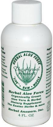 Herbal Answers, Inc, Herbal Aloe Force, 4 fl oz ,المكملات الغذائية، الألوة فيرا، سائل الألوة فيرا