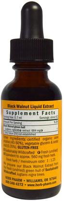 الأعشاب، الجوز الأسود Herb Pharm, Black Walnut, 1 fl oz (30 ml)