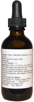 الأعشاب، الجذر الأرقطيون Eclectic Institute, Burdock Organic, 2 fl oz (60 ml)
