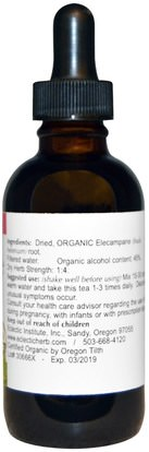 الأعشاب، إليكامبان Eclectic Institute, Organic Elecampane, 2 fl oz (60 ml)