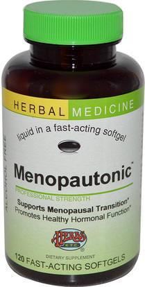 Herbs Etc., Menopautonic, Alcohol Free, 120 Fast-Acting Softgels (Discontinued Item) ,والصحة، والنساء، وانقطاع الطمث