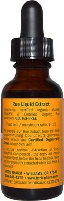 الأعشاب، رو Herb Pharm, Rue, Fruiting Tops, 1 fl oz (29.6 ml)