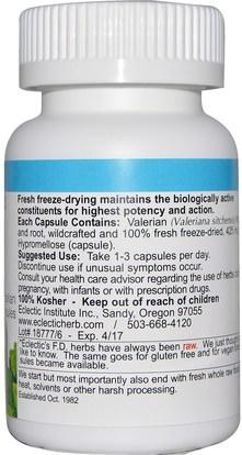 الأعشاب، فاليريان Eclectic Institute, Valerian, 425 mg, 90 Veggie Caps