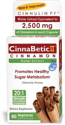 Hero Nutritional Products, CinnaBetic II, Water Extract, Cinnamon