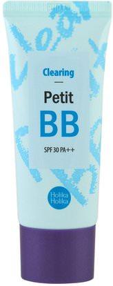 Holika Holika, Clearing Petit BB, SPF 30, 30 ml ,حمام، الجمال، العناية بالوجه، سف، تجميل الوجه، كير