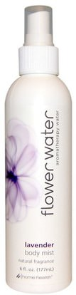 Home Health, Flower Water, Body Mist, Lavender, 6 fl oz (177 ml) ,حمام، الجمال، بخاخ العطر