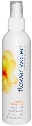 Home Health, Flower Water, Vanilla Blossom Body Mist, 6 fl oz (177 ml) ,حمام، الجمال، بخاخ العطر