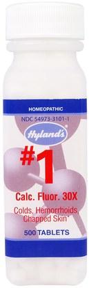 Hylands, #1 Calc. Fluor. 30X, 500 Tablets ,المكملات الغذائية، المثلية، الصحة