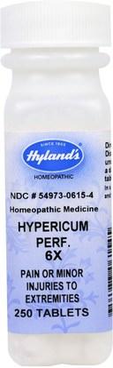 Hylands, Hypericum Perf. 6X, Pain or Minor Injuries To Extremities, 250 Tablets ,الصحة