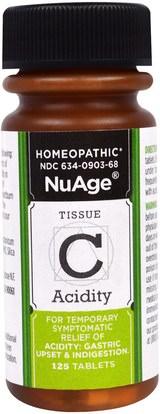 Hylands, NuAge, Tissue C Acidity, 125 Tablets ,الصحة
